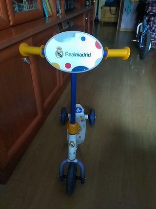 patin 3 ruedas Real Madrid
