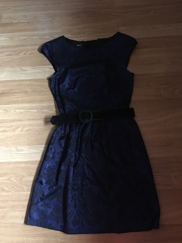 Vestido Azul Negro Talla M De Segunda Mano Por 10 En Reus
