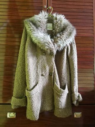 abrigo/ chaqueta lana y pelo