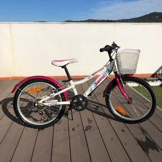 Bicicleta rosa 6 a 9 años WRC conor