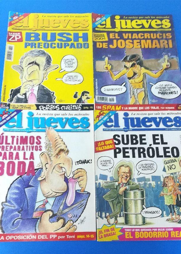 2004. 8 Revistas EL JUEVES..