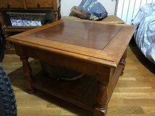 Mesa madera maciza salon