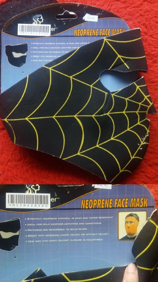 Máscara neopreno sotocasco y bufanda deportes