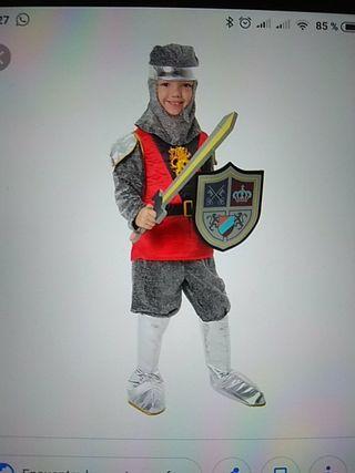 Disfraz de caballero medieval de niño