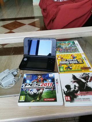 Vendo Nintendo 3ds XL + 4 juegos