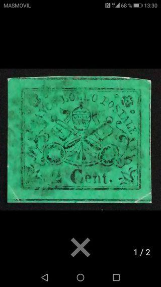 sello de Italia del 1852 sassone n 13