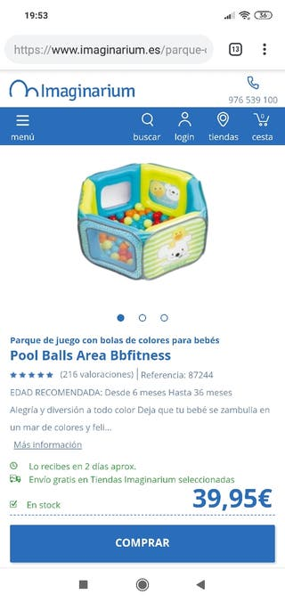 imaginarium parque de bolas bebe