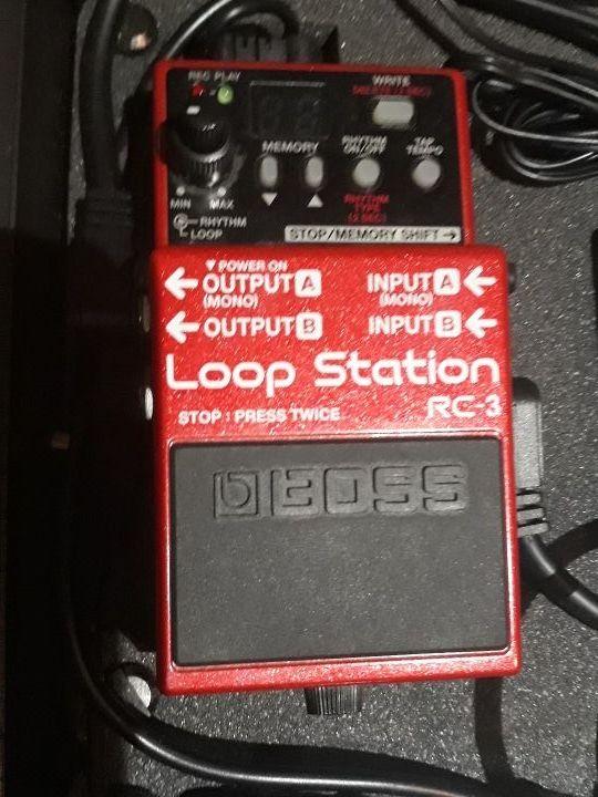 boss loop station pedal guitarra