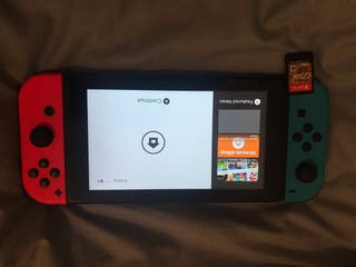 Nintendo switch con juego de Zelda