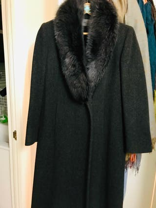 Long winter dress coat/ abrigo largo de salir