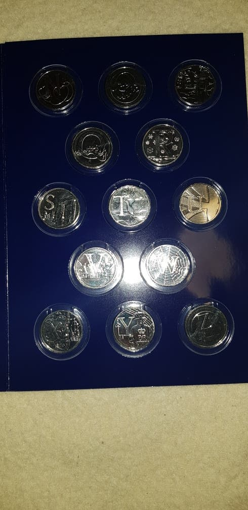 Alphabet 10p coinset