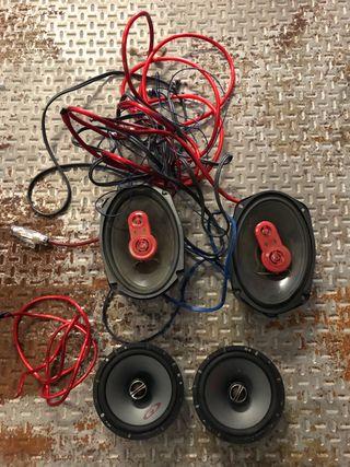Altavoces , cables , sonido , música , coche motor