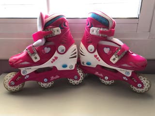 Patines barbie+protectores