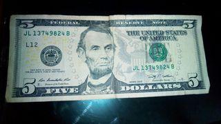 billete de 5 Dollars