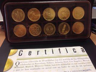 Colección monedas motivos olimpicos