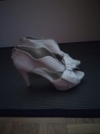 zapatos blancos de novia talla 37