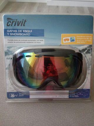 Gafas de esquí y snowboard sin estrenar