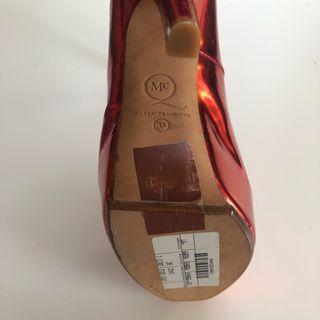 Alexander McQueen Red Foil Single Heel from 2013