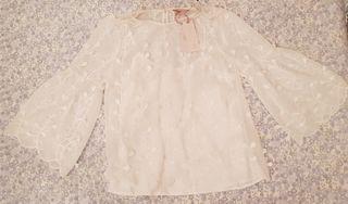 New See through Cream colour shirt
