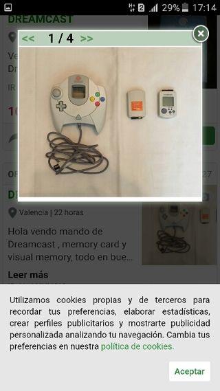 mando de sega Dreamcast +memori card