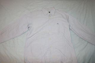 Camisa gris Burberry azul