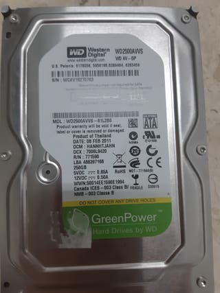 Disco duro 250gb SATA 3.5""