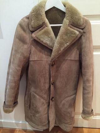 Abrigo de piel de Mouton. Vintage.