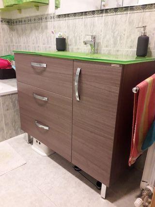 Conjunto de mueble de baño y lavabo Sanchis