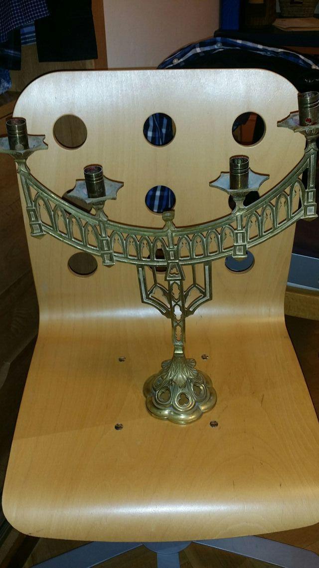 candelabro judio de bronce no se hacen envios