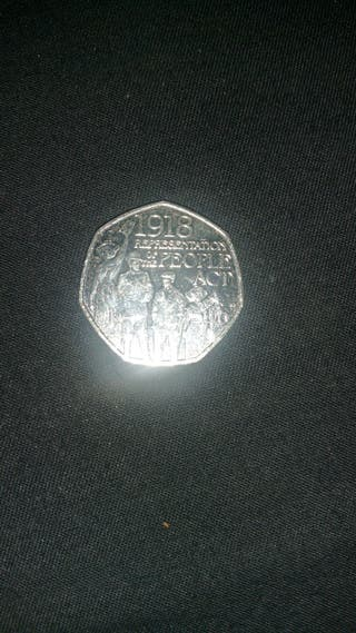 people's act 50p coin