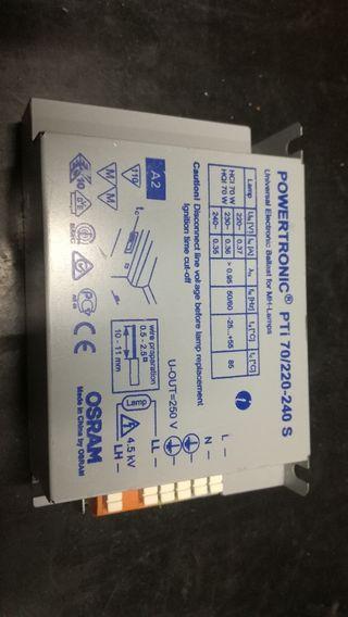 Equipo electrónico 70W halogenos