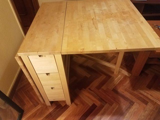 Mesa Plegable para comedor con cajones laterales de segunda mano por ...
