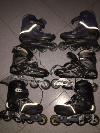 Lote de patines en linea