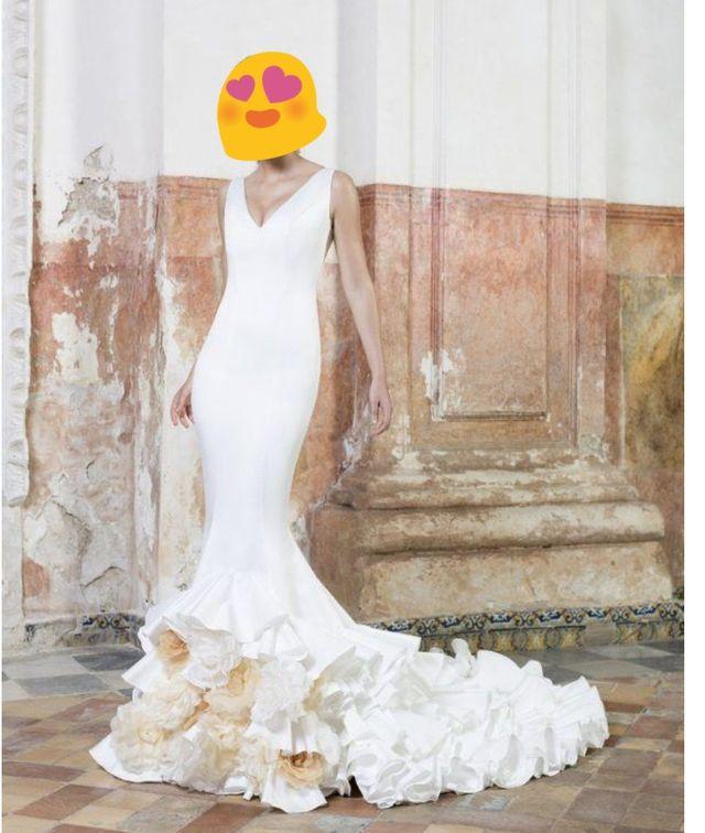 impresionante vestido novia vitorio & lucchino de segunda mano