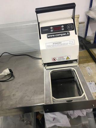 Termoselladora de barquetas semiautomatica