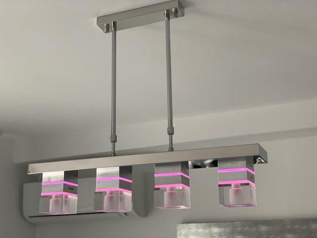 Lámparas modernas juego dos lamparas luces led