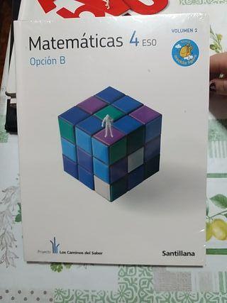 libros matemáticas 4ESO