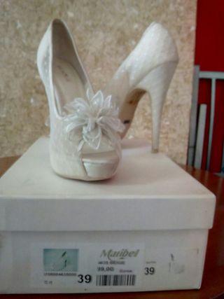 zapatos de novia de segunda mano en cádiz en wallapop