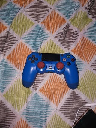 mando de ps4 color azul