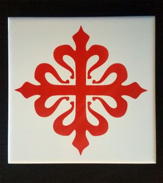 Azulejo cruz de Calatrava