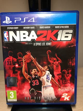 NBA 2K 16 juego ps4