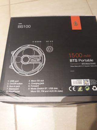 altavoz BTS BS100 con subwoofer