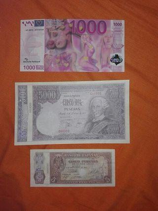 lote de billetes facsimil