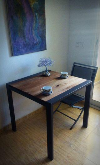 mesa madera ymetal