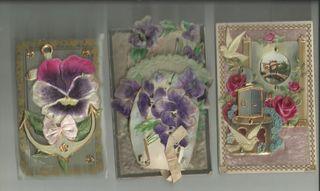 Postales , Vintage,Relieve