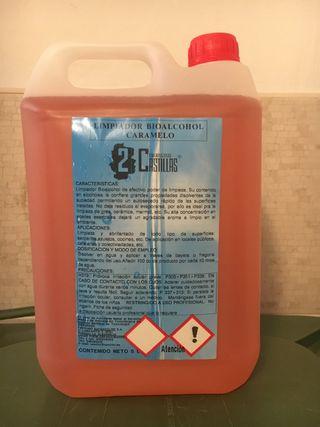 Limpiador bioalcohol 5 litros PRECIO GANGA