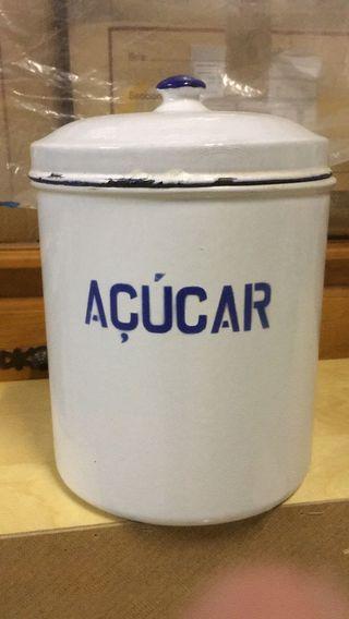 Bote azúcar esmaltado