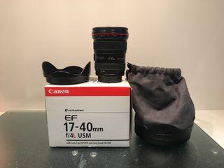 Objetivo Canon 17-40L f/4
