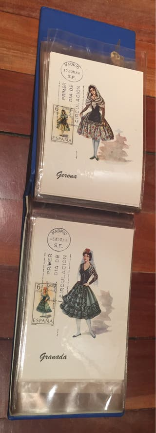 50 tarjetas postales trajes regionales