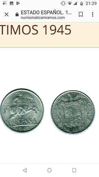 Moneda Antigua de 1945